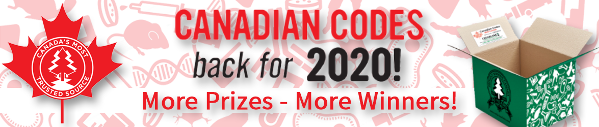 Cedarlane Canadian Codes Quarterly Prize Draw