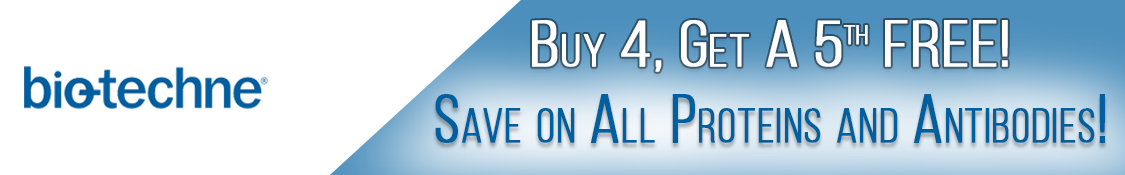 Buy 4 Bio-Techne Antibodies and/or Proteins, Receive 1 Free!