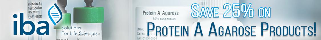 Save on IBA Protein A Agarose Products through Cedarlane