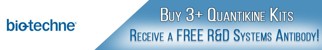 Buy 3 or more R&D Systems Quantikine Kits and Receive a Free Antibody