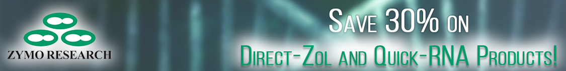Save on Zymo Research Direct-Zol and QuicK RNA products through Cedarlane