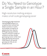Canon BioMedical Do You Need to Genotype a Single Sample in an Hour Brochure