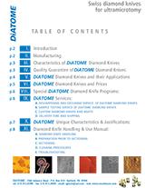 Electron Microscopy Sciences Diatome Knives Brochure