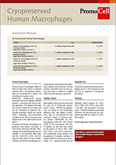 PromoCell Cryopreserved Human Macrophages Brochure