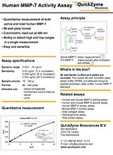 Quickzyme Human MMP 7 Activity Assay Flyer