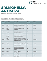 Statens Serum Institut Salmonella Antisera Brochure