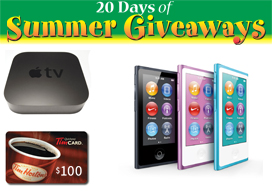 20 Days of Summer Giveaways